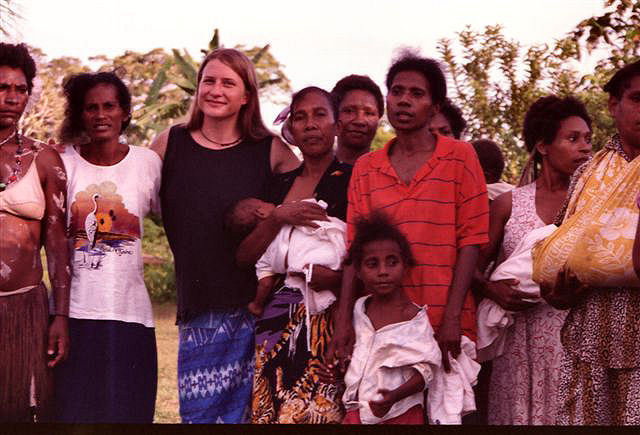 Photos of Kira Salak in Papua New Guinea